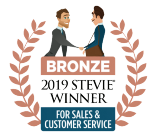 2019 Stevie Award Winner for Sales and Customer service